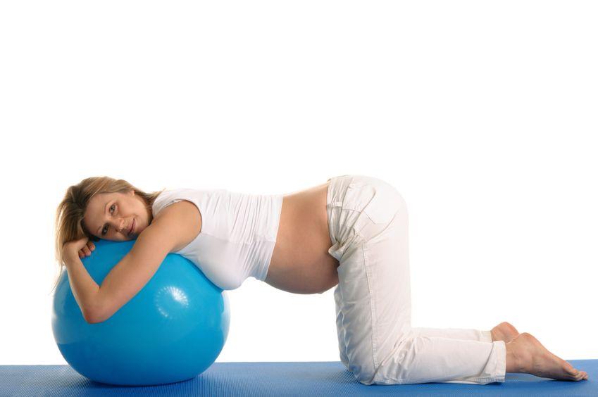 Гимнастика для беременных на фитболе